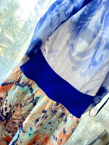 турецкое платье шифон в Кыргызстан: Платье-сарафан женское, легкое, нежное, летнее, длинное, шифон