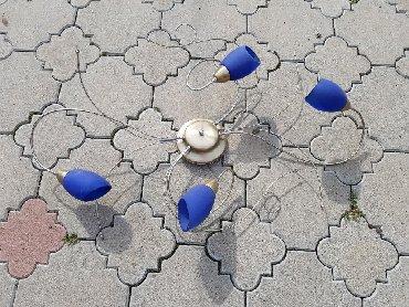 Kućni dekor - Zajecar: Luster plavi koriscen u odlicnom stanju
