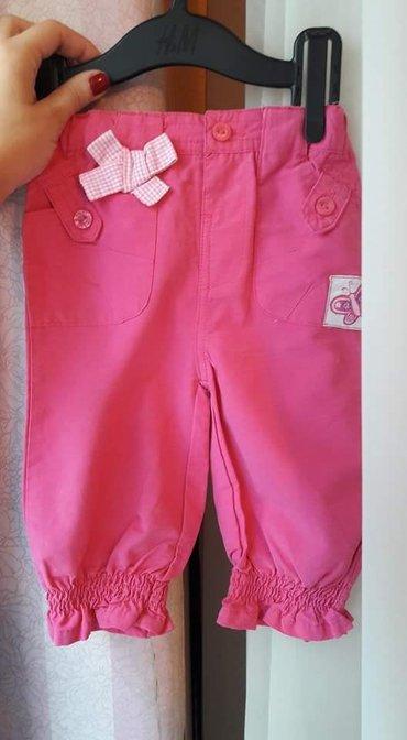 Lagane pantalone za devojčice. Veličina 80. Nošene par puta,kao - Belgrade