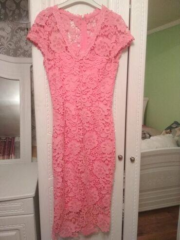 Розовое коктельное платье футляр -600сомов,Платье в пол 500 сомов