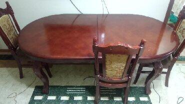 кухонный стол стулья в Кыргызстан: Продаю кухонный стол,3 м,в хорошем состоянии,с 10 стульями