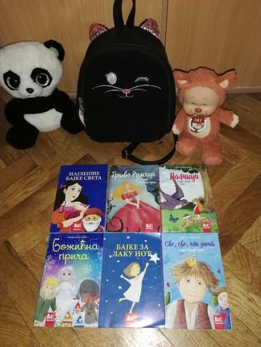 Za devojcice ranac, knjige,pisani panda i jogurtinis, sve za 1000 - Crvenka
