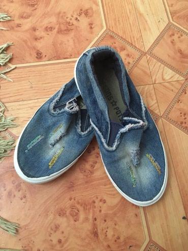 Детская обувь в Баетов: Детские мокасины джинсовые, б/у в хорошем состоянии 30 размер