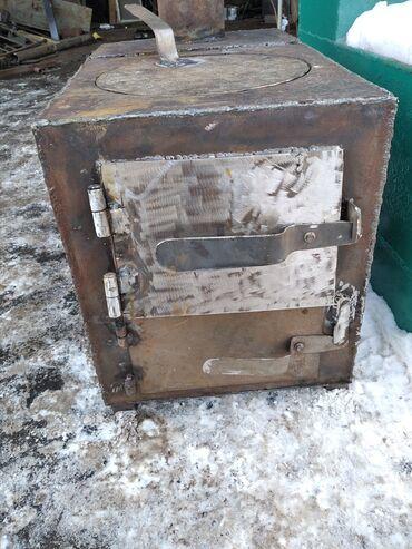 дешего в Кыргызстан: Большой Печка Буржуйка с чугунной плитой дешевый и экономичный