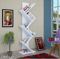Polica za knjige od univera u beloj boji, visina police je 140 cm, - Backa Topola