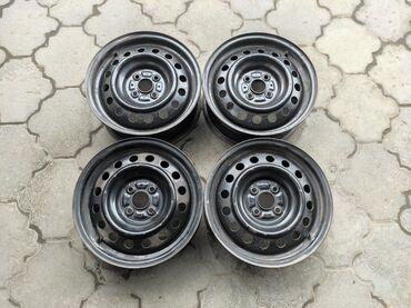 купить диски для машины в Кыргызстан: Железные диски Диаметр R15Сверловка 4*100Ширина 5.5jDIA 54.1Цена за 4