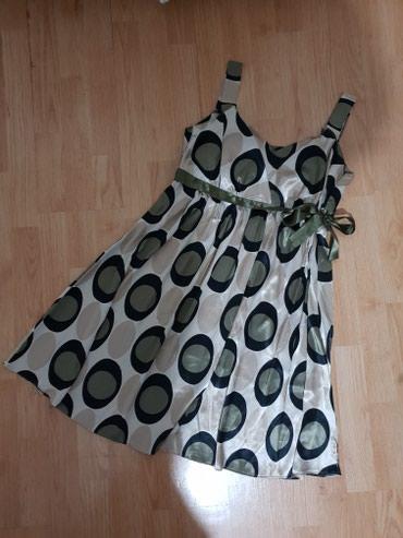 Prelepa leprsava satenska haljina sa masnom ispod grudi, kao nova - Loznica