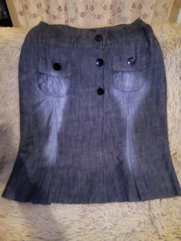 Lagani teksas, nova suknja, dužina 72cm, struk 80cm - Beograd - slika 3