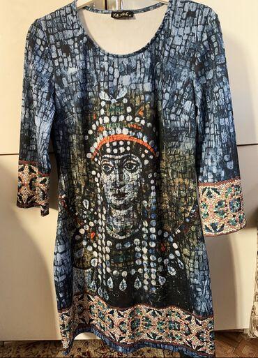 тунику платье в Кыргызстан: Интересное платье с ооочень интересным египетским рисунком. Можно носи