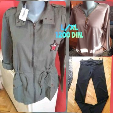 Pantalone velicina m - Srbija: Velicine L/XLJakna i pantalone novo xlBluza 1 nosena L moze i za xl