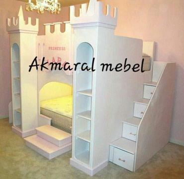 Двухъярусный кровать для детей, размер матраса 190/80см , в Кок-Ой