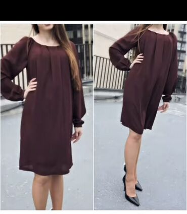 Zara платье Ткань шифон