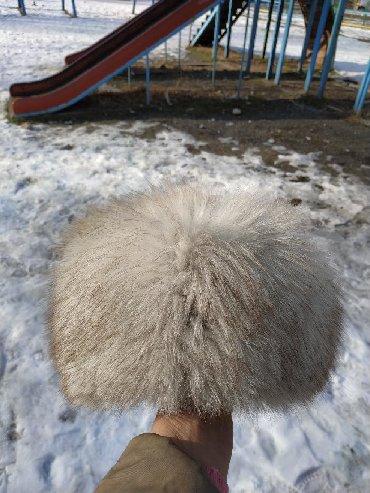 Шапку-для-девочки - Кыргызстан: Продаю шапку белую песцовую. Состояние отличное. Теплая и красивая