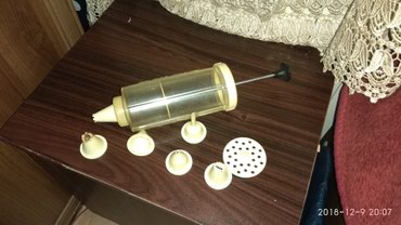 Bakı şəhərində Продается кондитерский шприц с насадками для крема в хорошем состоянии