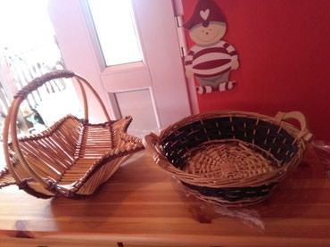 Korpe od bambusa I pruca,ko voli korpice nek pogleda moje oglase imam - Sombor