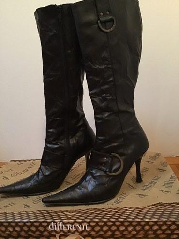 SNIŽENO!!!!! Differente elegantne čizme u crnoj boji, nošene samo - Crvenka