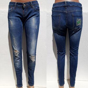 NESAL JEANS farmerke tamniji teksas 29/31Nesal jeans moderne