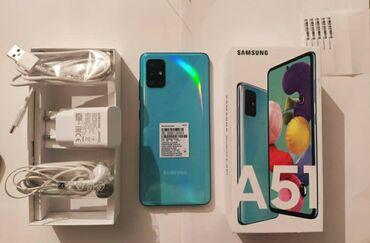 Стекла для телефонов - Кыргызстан: Б/у Samsung A51 64 ГБ Голубой