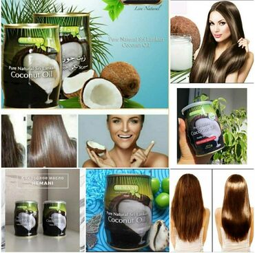 Кокосовое масло для роста укрепления и блеска волос
