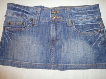 Suknjica jeans - Srbija: RASPRODAJA! Mini teksas suknja R MARKS jeans vel. 27. Teksas je jako