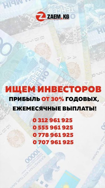 Ищем инвесторов в Бишкек