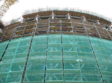 Фасадные сетки.   Фасадные сетки для ограждения строительных в Бишкек