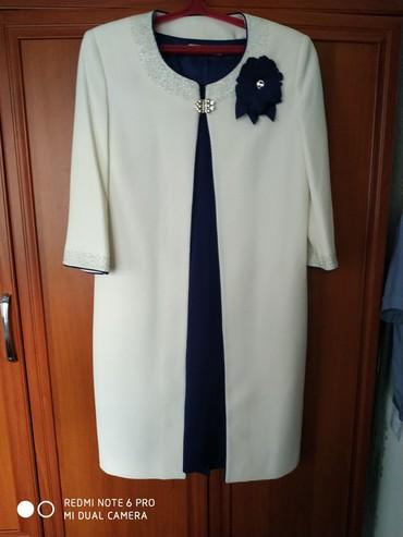 вечернее платье синий цвет в Кыргызстан: Платье двойка, очень красивое,платье синего цвета и белый