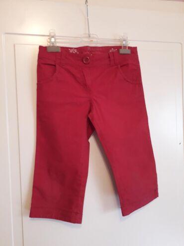 MONSOON 8-9Predivne pamucne pantalone do ispod kolenaDivna tamna crven
