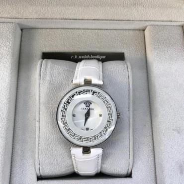 qadın üçün dəri krosovkalar - Azərbaycan: Ağ Qadın Qol saatları Versace