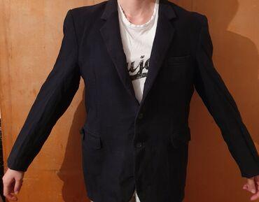 Личные вещи - Арчалы: Пиджак мужской, темно-синий, размер M. Нужно только погладить