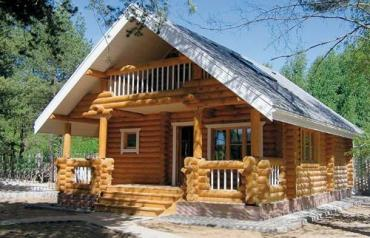 деревянный фасад в Азербайджан: Услуги. Деревянный дом из сруба .Строительство деревянного дома – это