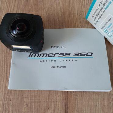 Экшн камера. Kitvision immersi 360 action camera. Б/у, состояние