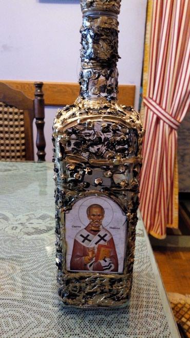 Ukrasne flase Sv Nikola..1l...ima i drugih svetaca.. - Kraljevo