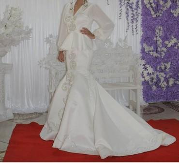 вечерние платья со шлейфом в Кыргызстан: Красивое платье на Кыз узатуу! Индивидуальный пошив, дорогие камушки