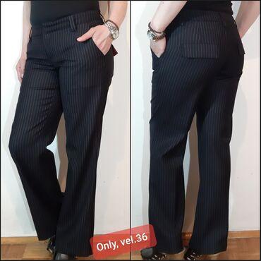 Poslovne-pantalone - Srbija: Only,elegantne,zenstvene pantalone,od svilenkastog,tankog platna sa