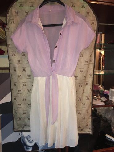 белое летнее платье в Кыргызстан: Платье летнее, б/у, состояние хорошее, размер 42