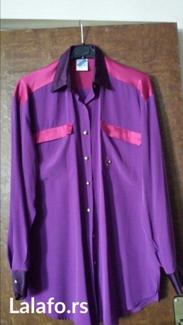 Ženska svilena košulja, jednom nošena, moderna, 36 veličina - Velika Plana