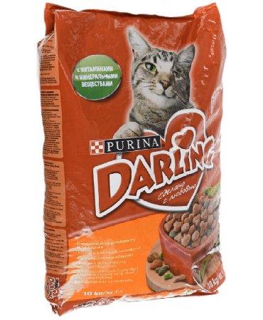 Кошачий корм Purina darling с курицей и овощами, 10 кг