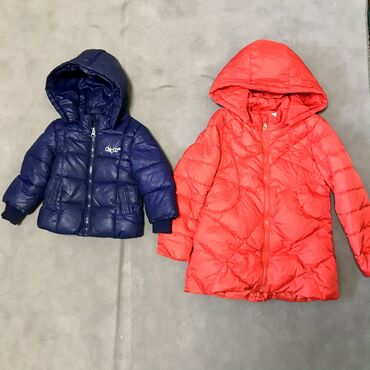 Куртки зимние тёплые 1.Синяя Chicco на мальчика на 1 год (с 9 до 18