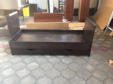Продаю новую односпальную кровать с ящиками  без матраса в Бишкек