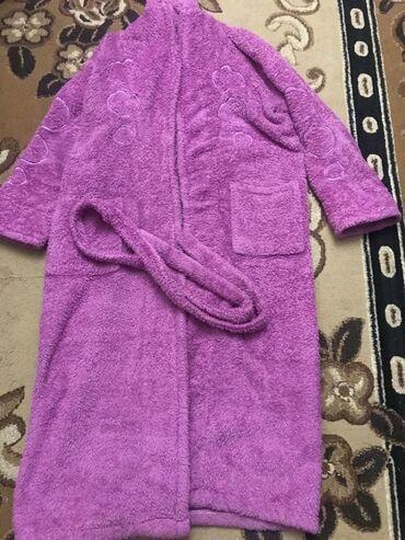 Махровый халат тёплый свободного размера до 52 размера