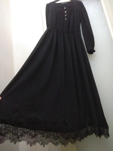 Продаю очень красивое чёрное женское длинное платье с французским