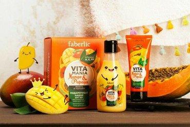 Deste daxildir dusgeli,el kremi,sabun mango ve ppaya terkiblidir,ideal