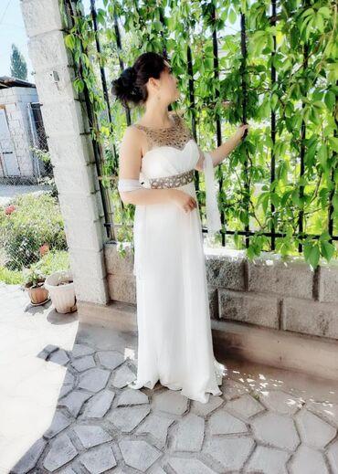вечерние платья в греческом стиле в Кыргызстан: Продаю платье красивое в греческом стиле.Одевали 1 раз.Размер S-M