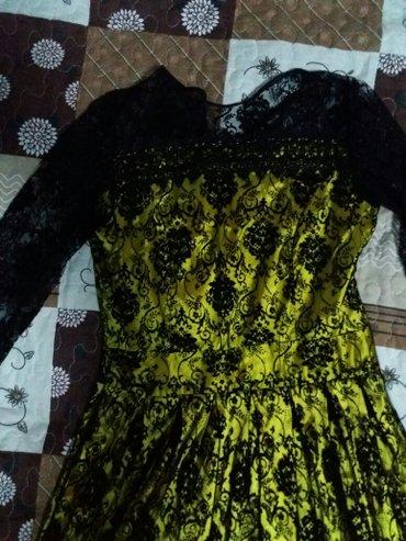 Платье размер 42-44-46, длина в пол, рукава в Бишкек