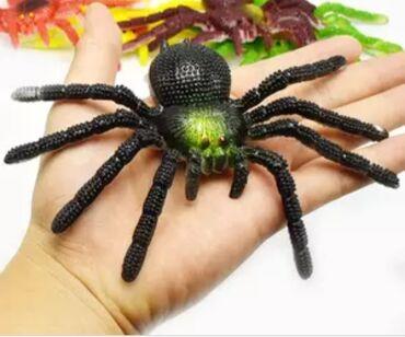 Резиновые пауки . 15 см x 8 см красочная модель TPR, имитация больших