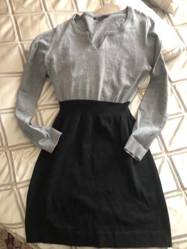 Теплое стильное платье! С ботфортами шик! Размер С /М