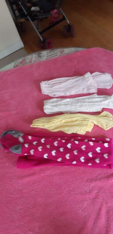 Za haljina - Srbija: -Carapice duge-hulahopke za devojcicu- -velicina: 3-4-ves za
