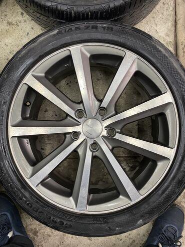 шины r18 в Кыргызстан: Срочно диски Bridgestone R18/8j разбалтовка 5х114,3  Резина 225/45/18