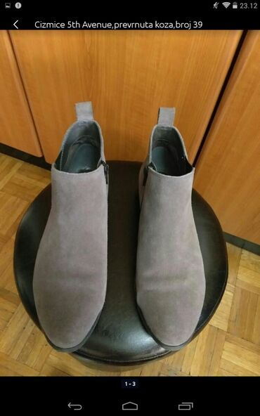 Ženska obuća | Obrenovac: Čizmice 5th Avenue, prevrnuta koza broj 39